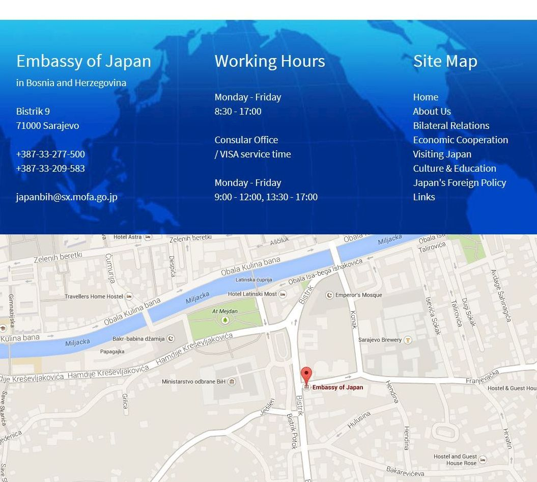 Footer Site Map: Jamax Project Portfolio